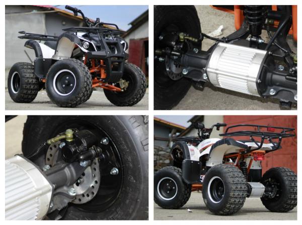 ATV electric Eco Toronto 1000W 48V 20Ah cu DIFERENTIAL #Alb 6