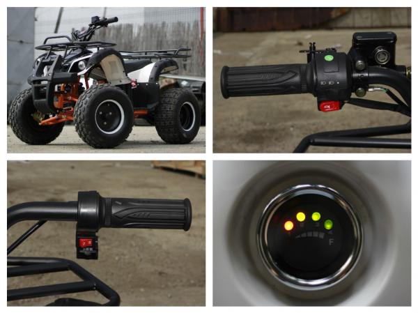 ATV electric Eco Toronto 1000W 48V 20Ah cu DIFERENTIAL #Alb 8