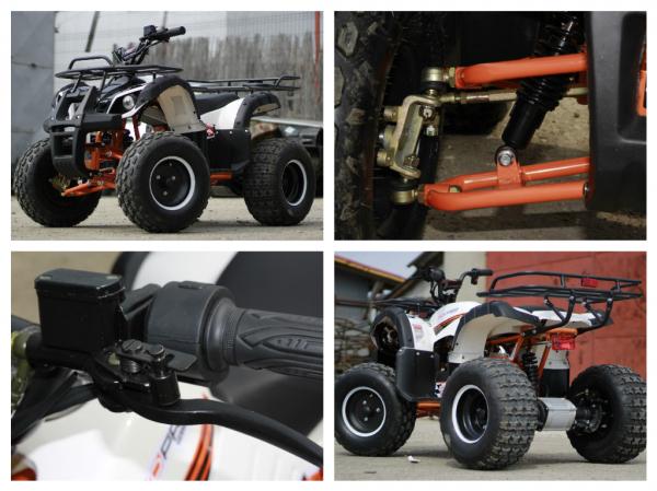 ATV electric Eco Toronto 1000W 48V 20Ah cu DIFERENTIAL #Alb 10