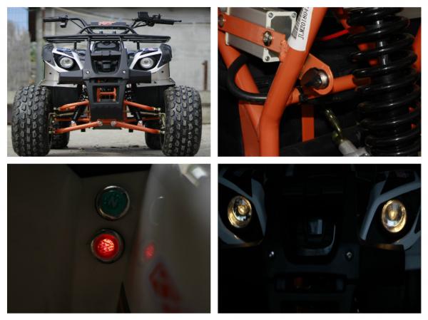 ATV electric Eco Toronto 1000W 48V 20Ah cu DIFERENTIAL #Alb 7