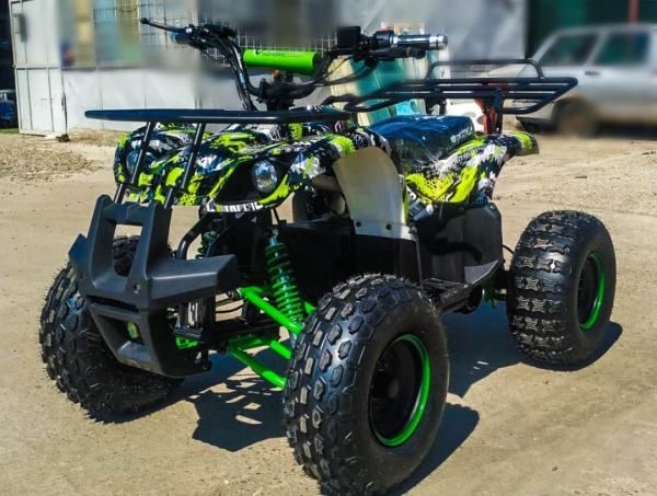 ATV electric Eco Toronto 1000W 48V 20Ah #Verde Camuflaj 7