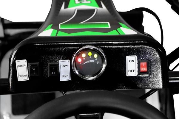 Kart electric pentru copii NITRO GoKid Dirty 1000W 48V #Rosu 2