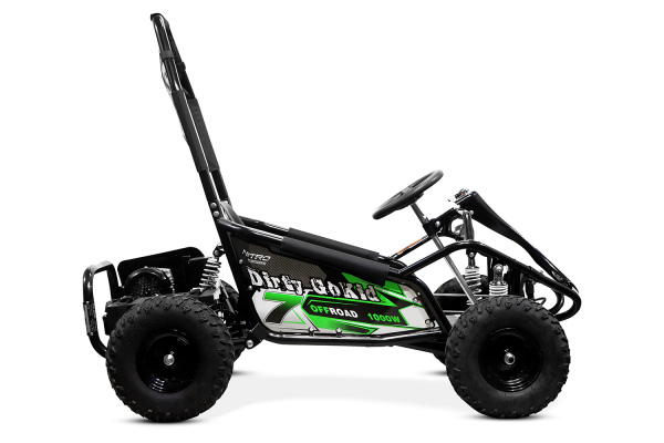 Kart electric NITRO GoKid Dirty 1000W 48V #Verde 4