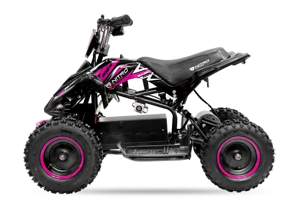 ATV electric NITRO ECO Python 800W 36V cu 3 Viteze #Roz 0