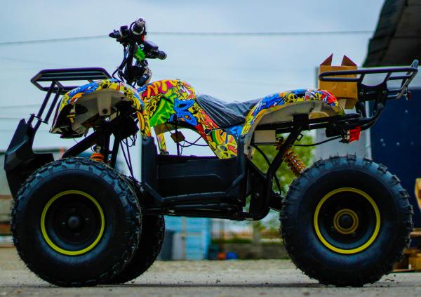 ATV electric NITRO Eco Toronto 1000W 48V 20Ah cu DIFERENTIAL #Galben 3