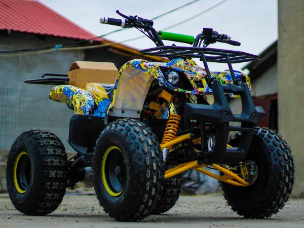 ATV electric NITRO Eco Toronto 1000W 48V 20Ah cu DIFERENTIAL #Galben 9