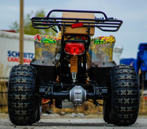 ATV electric NITRO Eco Toronto 1000W 48V 20Ah cu DIFERENTIAL #Galben 4