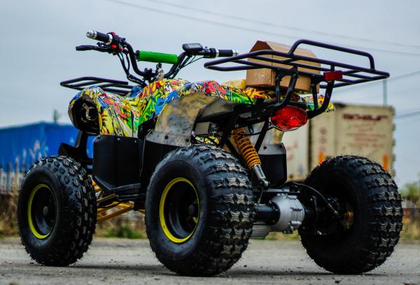 ATV electric NITRO Eco Toronto 1000W 48V 20Ah cu DIFERENTIAL #Galben 2