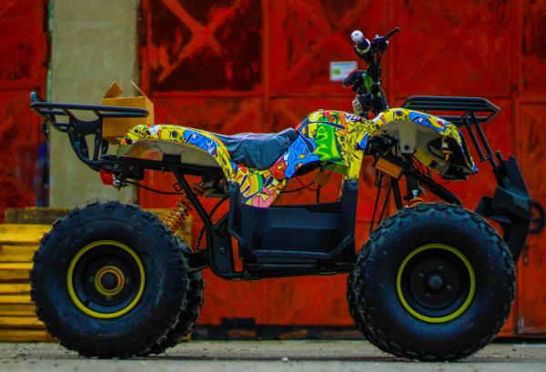 ATV electric NITRO Eco Toronto 1000W 48V 20Ah cu DIFERENTIAL #Galben 6