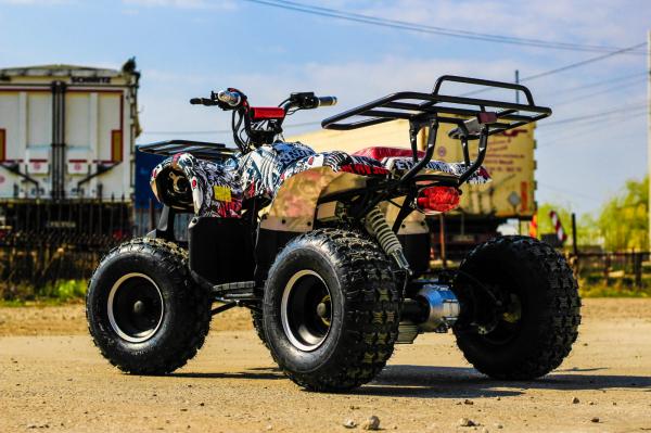 ATV electric NITRO Eco Toronto 1000W 48V 20Ah cu DIFERENTIAL #Alb [10]