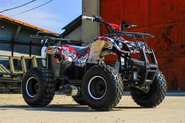ATV electric NITRO Eco Toronto 1000W 48V 20Ah cu DIFERENTIAL #Alb [8]