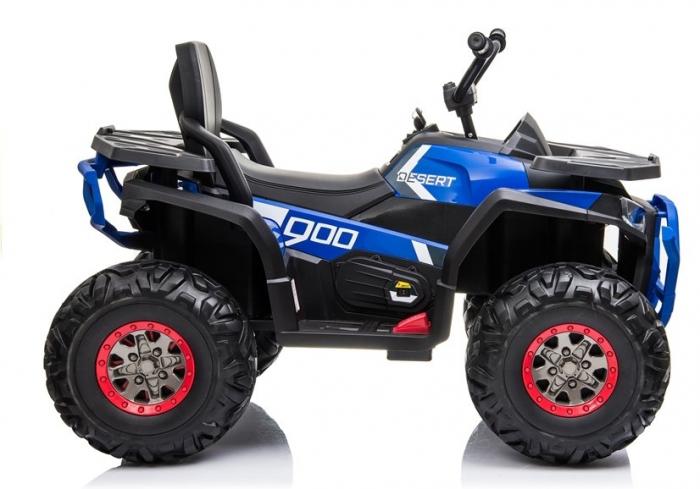 ATV electric pentru copii BJ607 12V 90W cu Scaun Tapitat #Albastru [7]