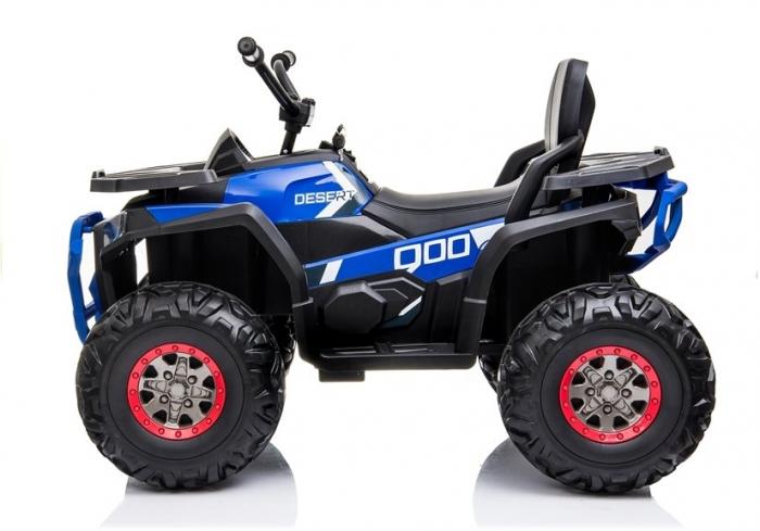 ATV electric pentru copii BJ607 12V 90W cu Scaun Tapitat #Albastru [4]