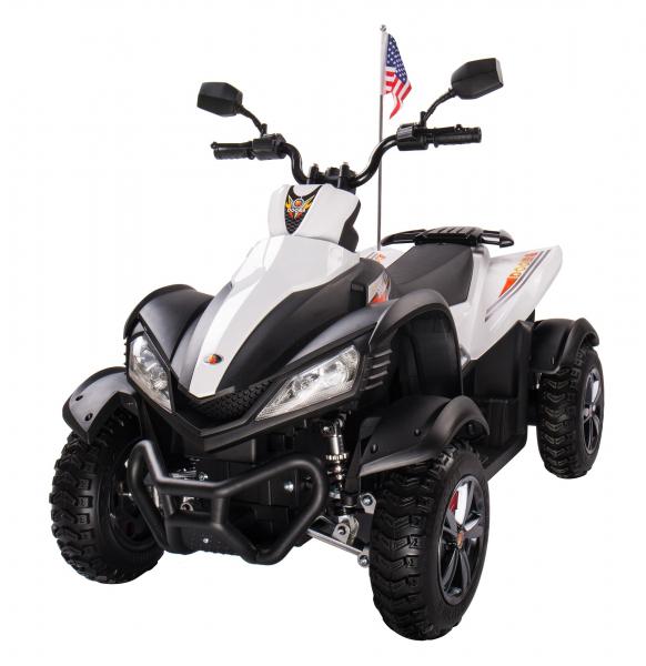 ATV Electric pentru copii Dooma BJ268A 90W 12V cu ROTI MOI #Alb 0