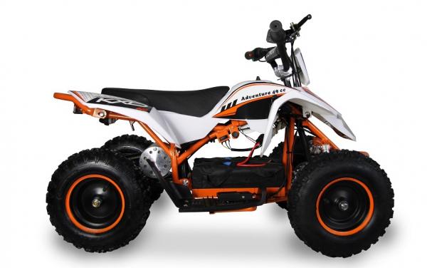 ATV electric pentru copii KXD Maddox M1 800W 36V #Portocaliu 3