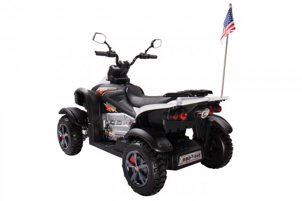 ATV Electric pentru copii Dooma BJ268A 90W 12V cu ROTI MOI #Alb 2