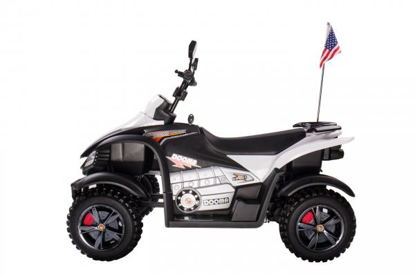 ATV Electric pentru copii Dooma BJ268A 90W 12V cu ROTI MOI #Alb 1