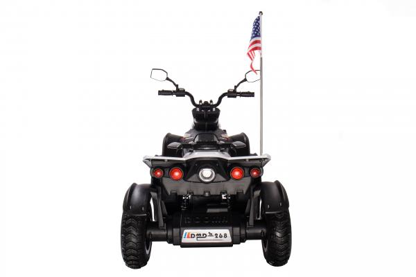 ATV Electric pentru copii Dooma BJ268A 90W 12V cu ROTI MOI #Alb 3