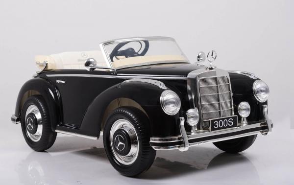 Mercedes 300S OldTimer, negru pentru copii 2-6 ani [7]