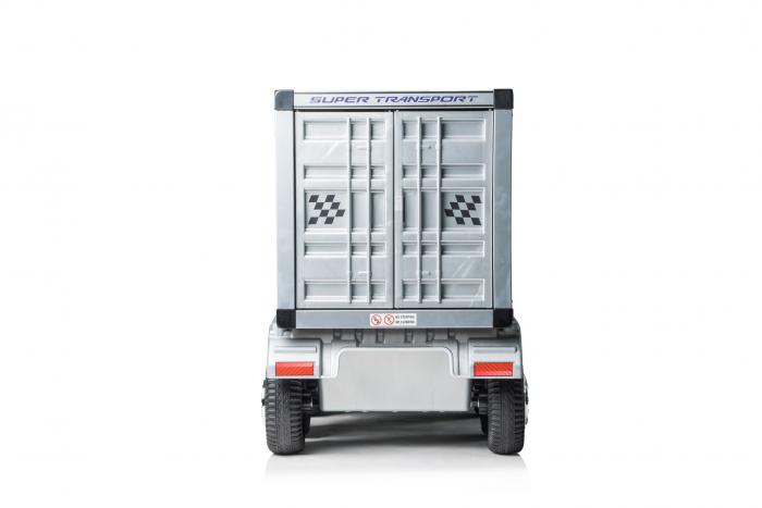 Camion electrica cu semiremorca BJJ2011 4x4 140W PREMIUM #Negru 8