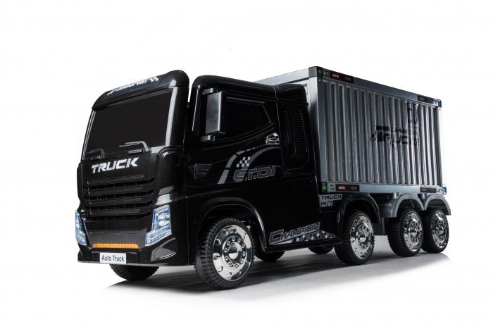 Camion electrica cu semiremorca BJJ2011 4x4 140W PREMIUM #Negru 0