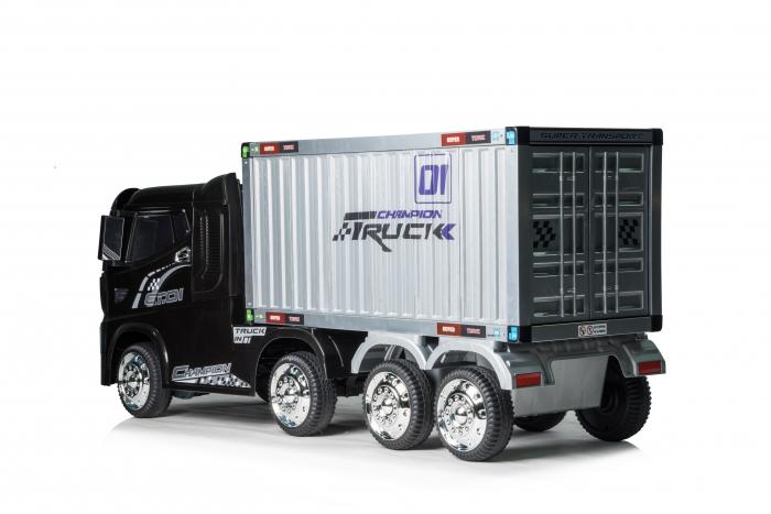 Camion electrica cu semiremorca BJJ2011 4x4 140W PREMIUM #Negru 7