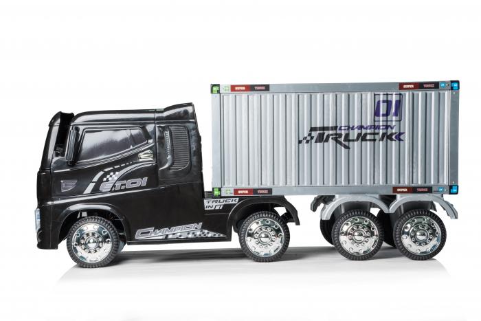 Camion electrica cu semiremorca BJJ2011 4x4 140W PREMIUM #Negru 6