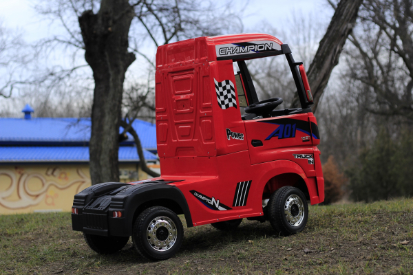 Camion electric Mercedes ACTROS 4x4 180W 12V PREMIUM #Rosu 3