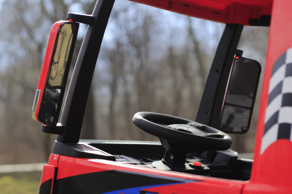 Camion electric Mercedes ACTROS 4x4 180W 12V PREMIUM #Rosu 10