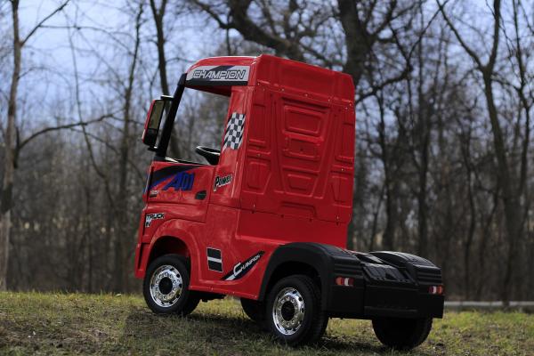 Camion electric Mercedes ACTROS 4x4 180W 12V PREMIUM #Rosu 8