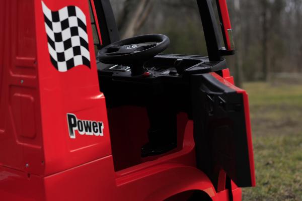 Camion electric Mercedes ACTROS 4x4 180W 12V PREMIUM #Rosu 9