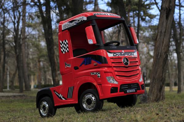 Camion electric Mercedes ACTROS 4x4 180W 12V PREMIUM #Rosu 4