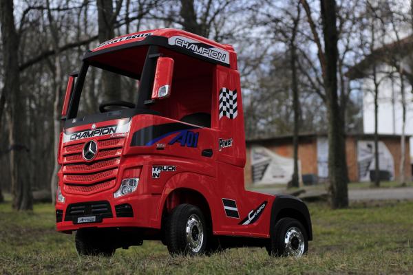 Camion electric Mercedes ACTROS 4x4 180W 12V PREMIUM #Rosu 5
