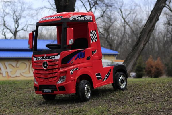 Camion electric Mercedes ACTROS 4x4 180W 12V PREMIUM #Rosu 2