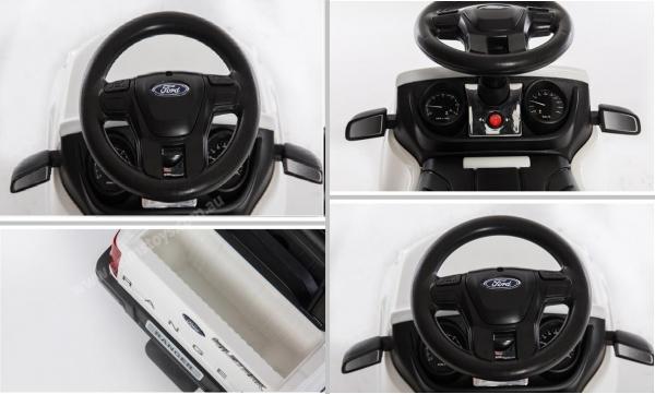 Carucior electric pentru copii 3 in 1 Ford Ranger STANDARD #Alb 5