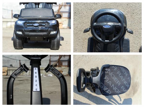 Carucior electric pentru copii 3 in 1 Ford Ranger STANDARD #Negru 8