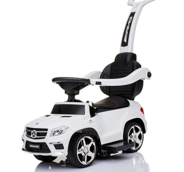 Masinuta cu maner pentru copii 3 in 1 Mercedes GL63 AMG PREMIUM #Alb 0