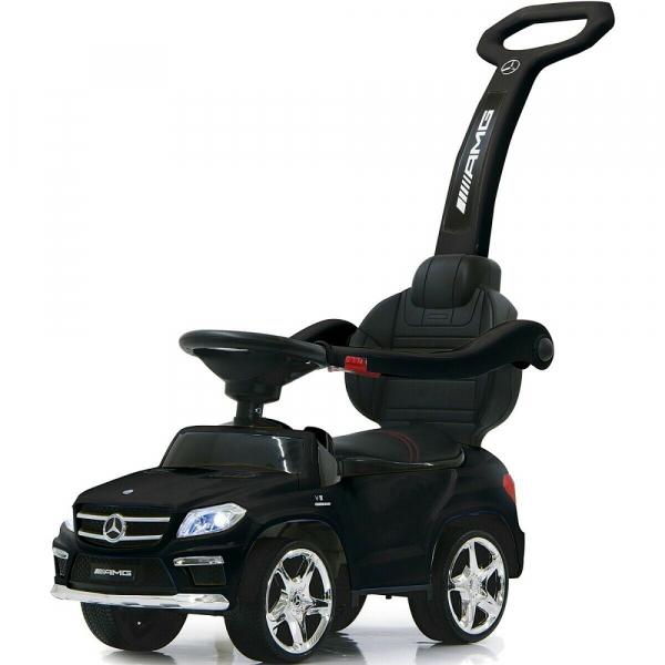 Masinuta cu maner pentru copii 3 in 1 Mercedes GL63 AMG PREMIUM #Negru 0