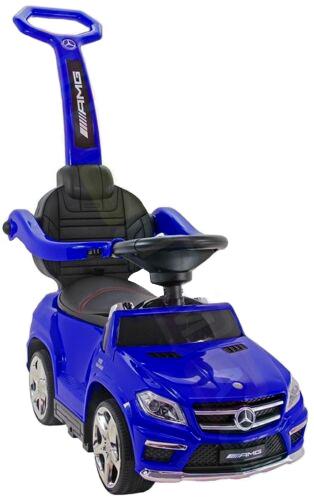 Masinuta cu maner pentru copii 3 in 1 Mercedes GL63 AMG PREMIUM #Albastru 0