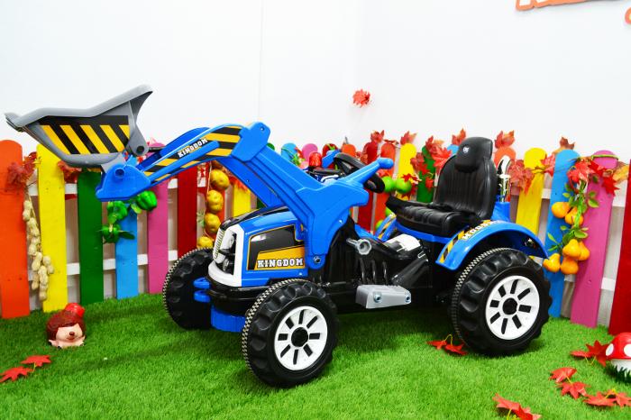 Excavator electric pentru copii 2-6 ani, albastru, 90W, 12V [3]