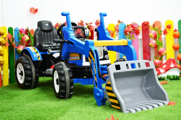 Excavator electric pentru copii 2-6 ani, albastru, 90W, 12V [1]