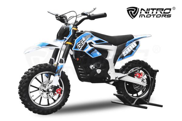 Mini Motocicleta Eco Ghepard 500W 24V #Albastra 0