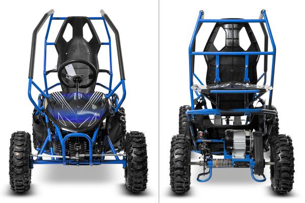 Buggy electric pentru copii NITRO Crosser 1000W 36V #Albastru 2