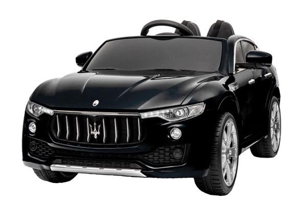 Masinuta electrica copii Maserati Levante negru 0