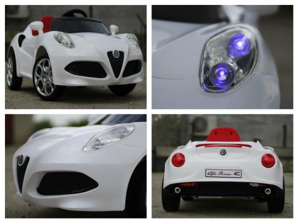Masinuta electrica Alfa Romeo 4C 2x 15W STANDARD #Alb 8