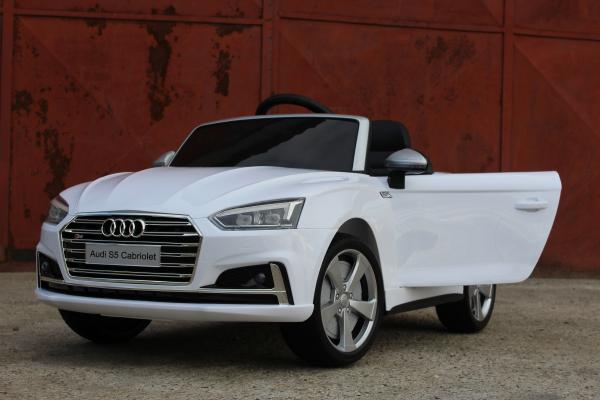 Masinuta electrica Audi S5 Cabriolet 2x35W CU ROTI MOI 12V #Alb 3