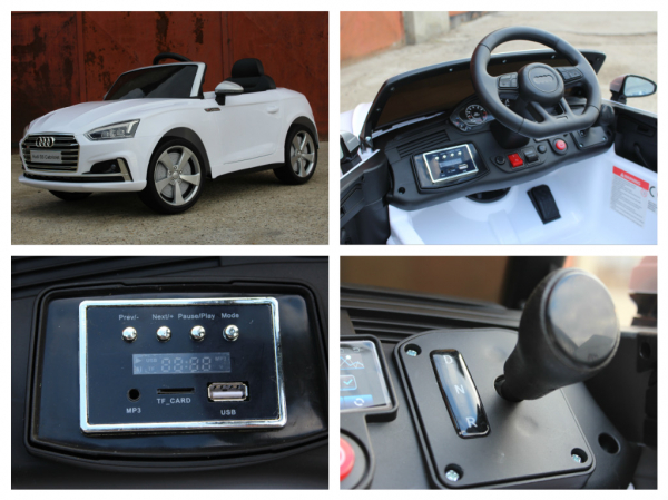 Masinuta electrica Audi S5 Cabriolet 2x35W CU ROTI MOI 12V #Alb 7
