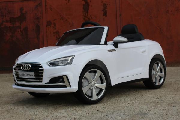 Masinuta electrica Audi S5 Cabriolet 2x35W CU ROTI MOI 12V #Alb 2