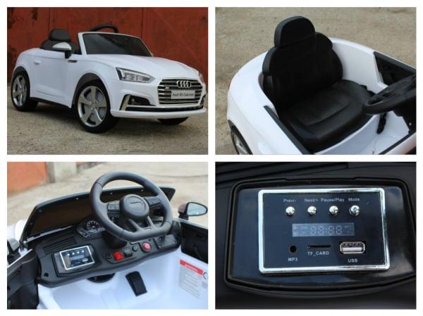 Masinuta electrica Audi S5 Cabriolet 2x35W CU ROTI MOI 12V #Alb 9