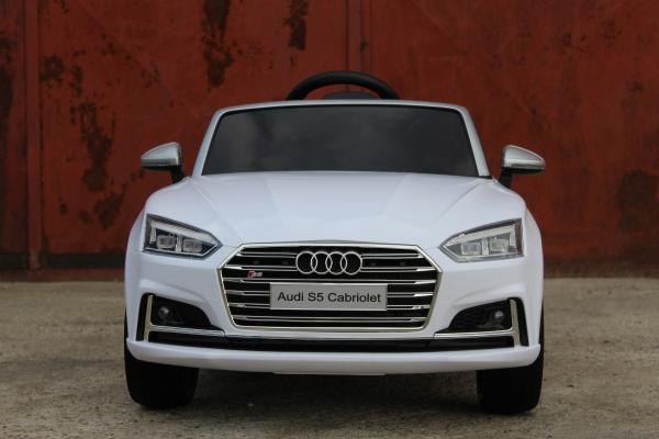 Masinuta electrica Audi S5 Cabriolet 2x35W CU ROTI MOI 12V #Alb 10